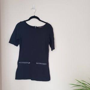 4$25 The limited ] black short sleeve blouse